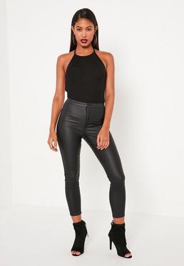 Black Lace Back Detail Bodysuit