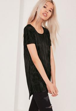 Pleated Tunic Black