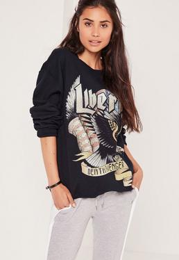 Liberty Slogan Sweatshirt Navy