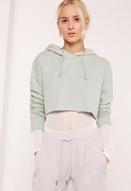 Cropped Sweatshirt Green
