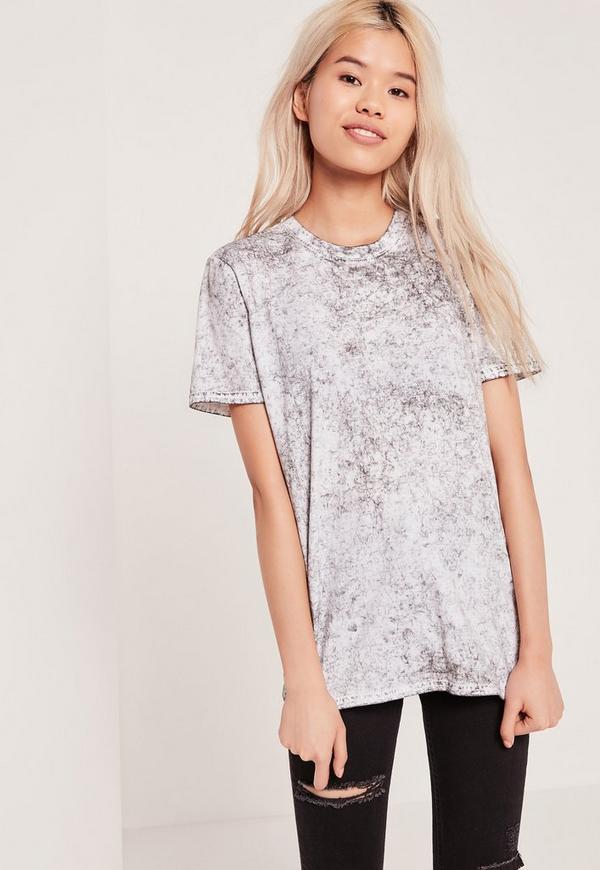 Mottled T Shirt White