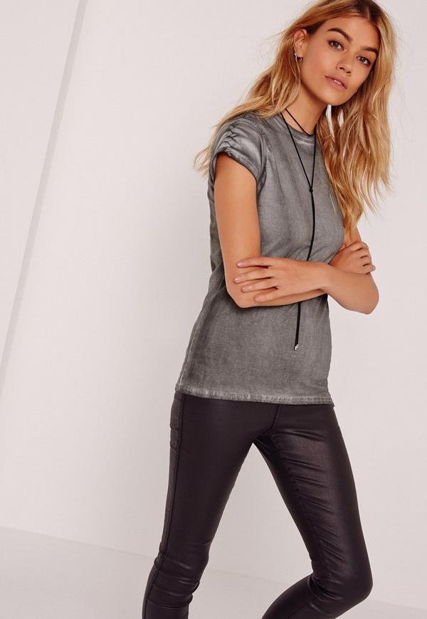 Washed T Shirt Grey