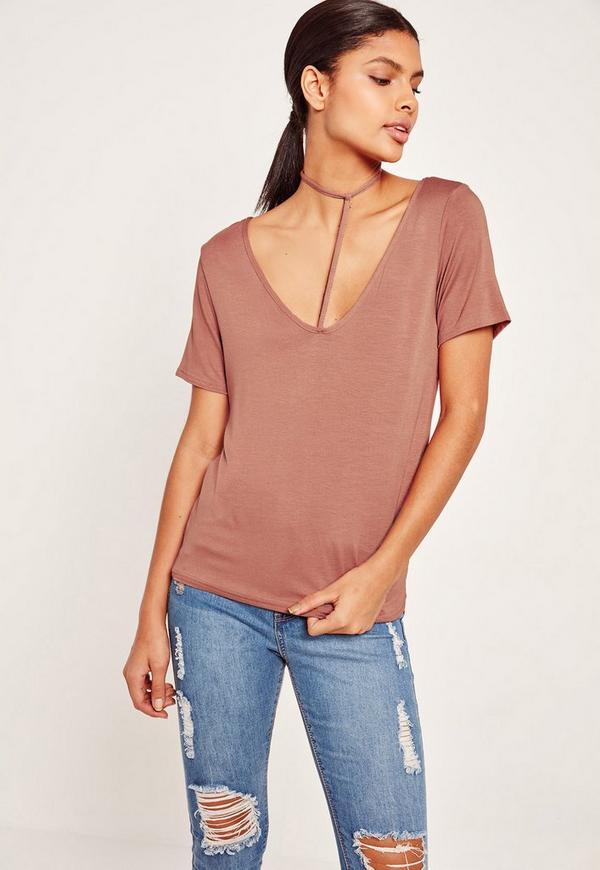 Harness Detail T Shirt Pink