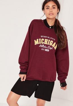 Michigan Sweatshirt Purple