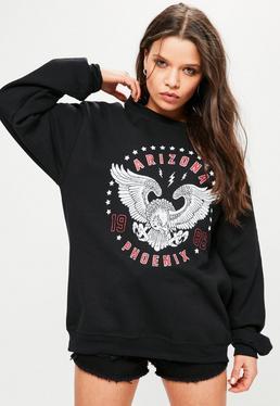 """Sweatshirt mit """"Arizona Phoenix""""-Grafik in Schwarz"""