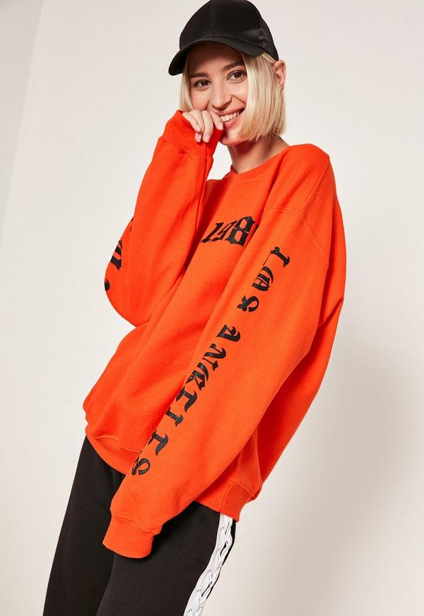 Orange 1986 LA Sweatshirt
