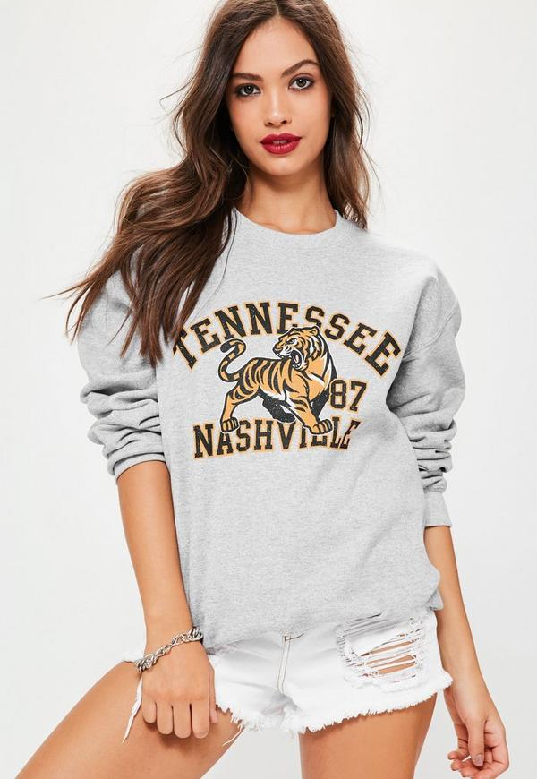 Tennessee Nashville Sweatshirt Grey