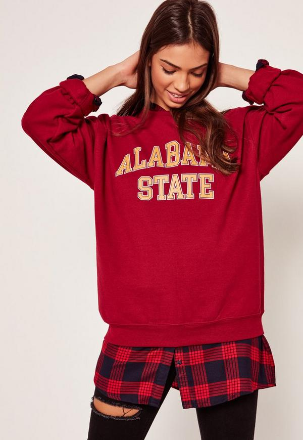 Alabama State Sweatshirt Burgundy