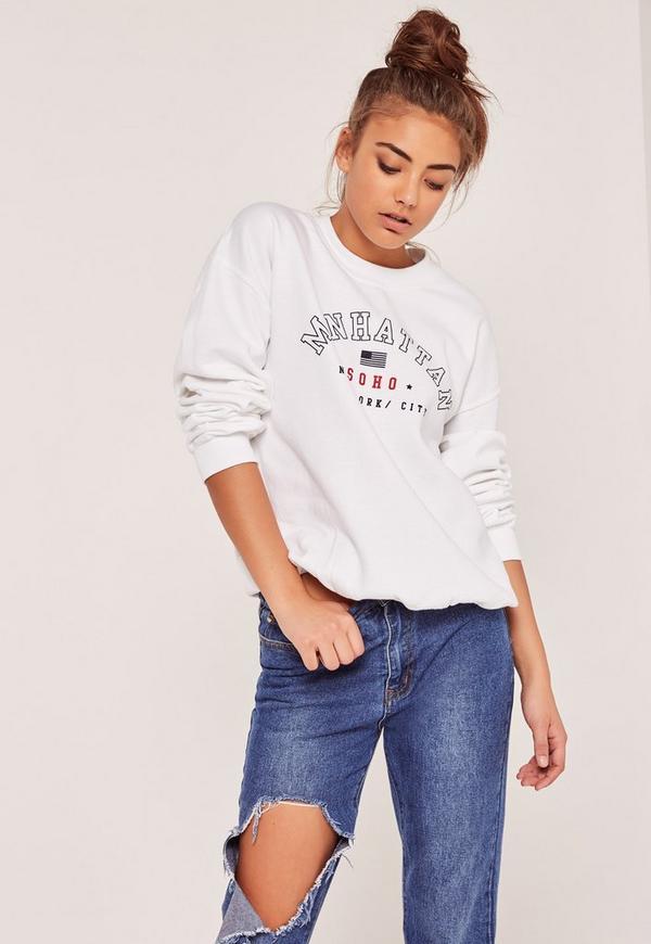 Manhattan Soho Sweatshirt White
