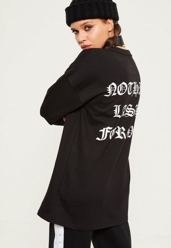 Black Off Duty Slogan Sweatshirt