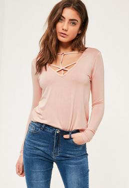 Nude Harness Long Sleeve Top
