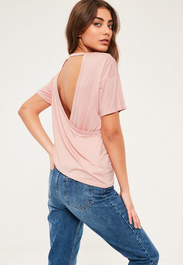 Pink Wrap Back T-Shirt
