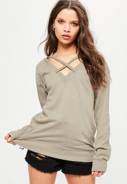 Green Cross Front Sweatshirt