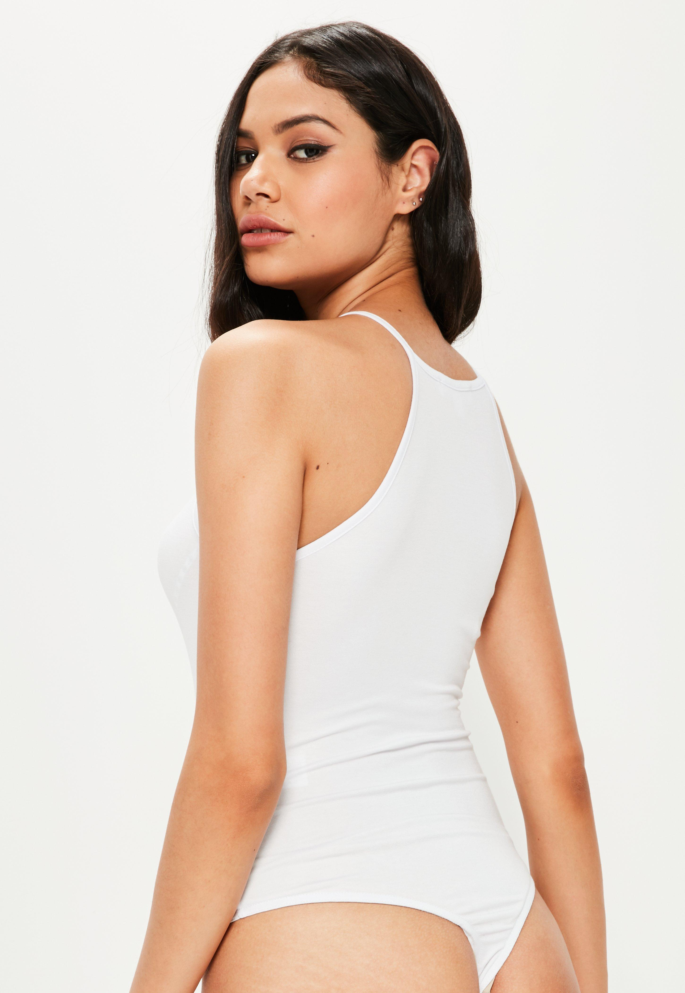 Latest Cheap Online Missguided 90s Neck Satin Bodysuit Clearance Nicekicks Best Store To Get For Sale Mz79n