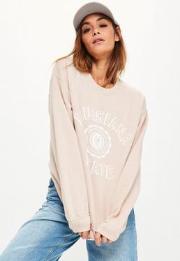Nude Louisiana USA Slogan Sweatshirt