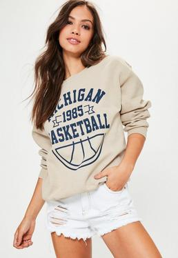 Nude Michigan 1985 Slogan Sweatshirt