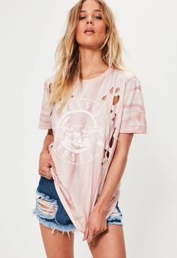 Pink Guns and Roses T-Shirt
