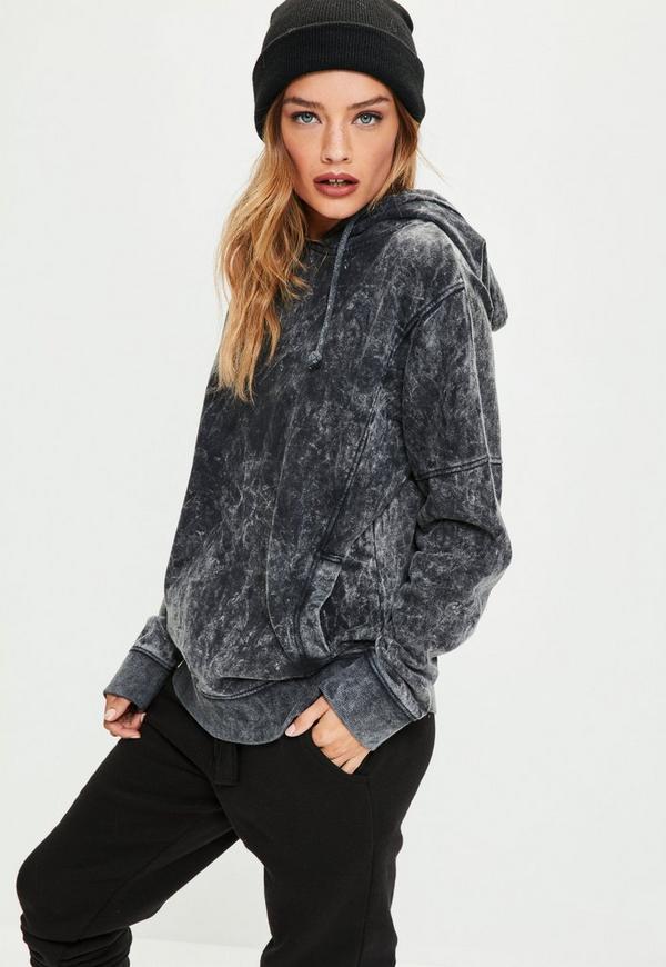 Grey Washed Hoodie