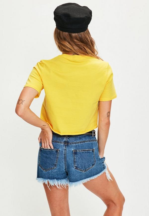 Yellow Vibes Cropped T Shirt Missguided