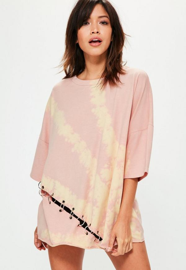 Nude Extreme Washed Ring Detail T-Shirt