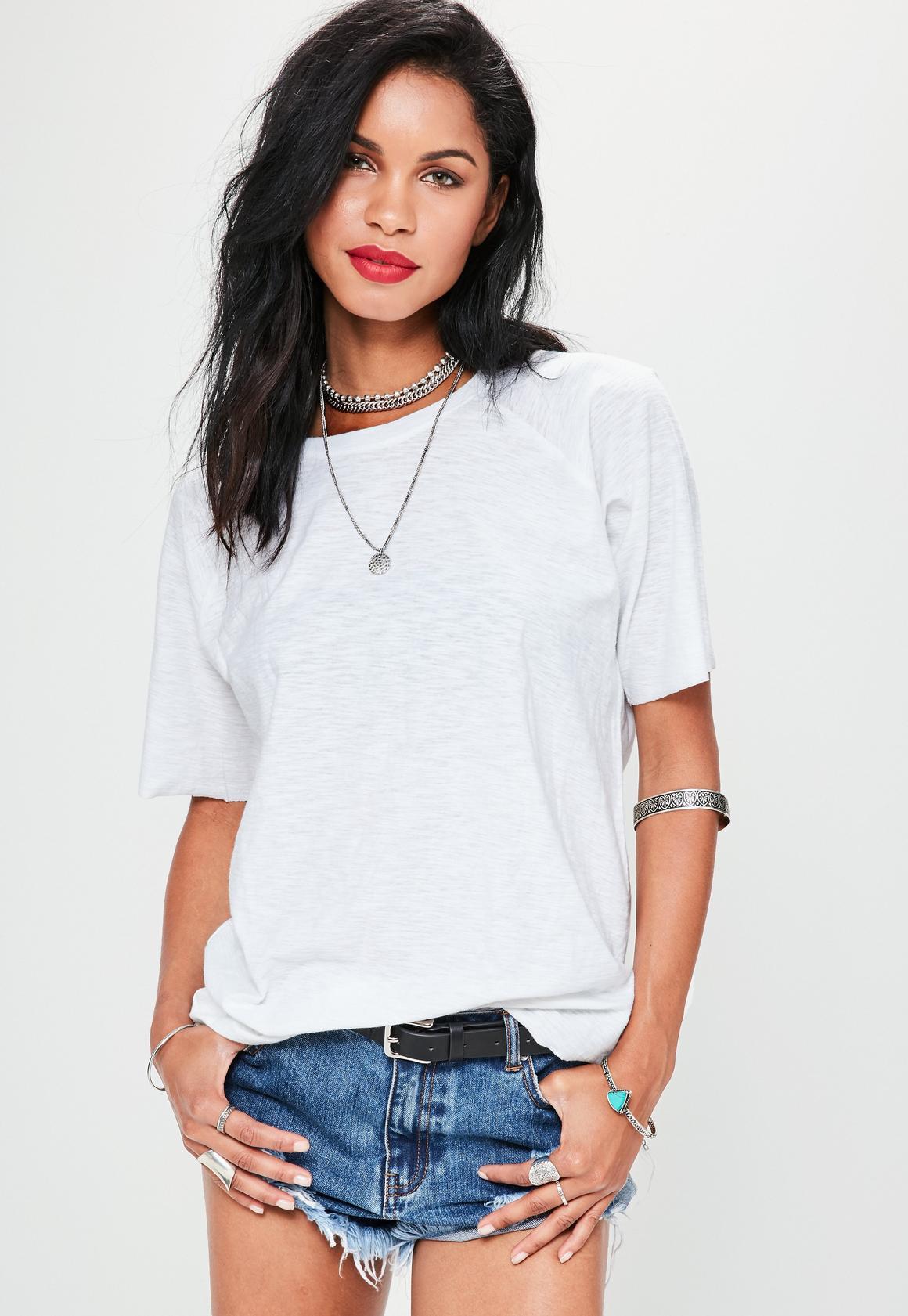 White Slub Oversized T-Shirt | Missguided