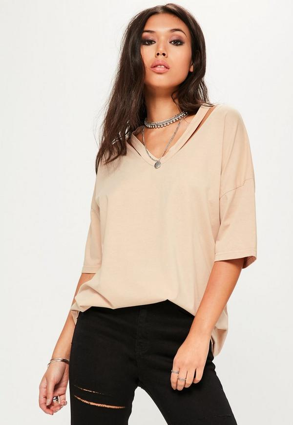 Nude Deconstructed Oversized T Shirt