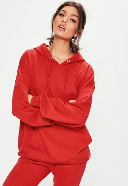 Red Jersey Hoody
