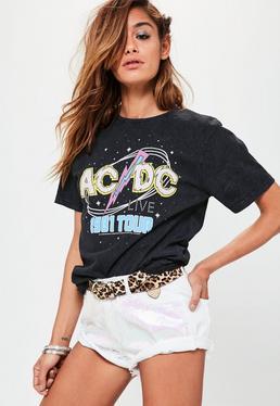Czarna koszulka z nadrukiem ACDC Live 1981 Tour