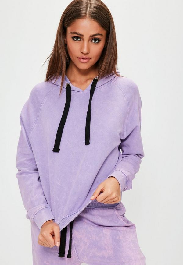 Purple Washed Hoodie