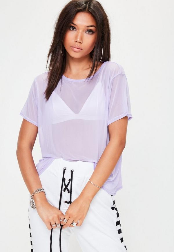 Purple Mesh T-Shirt