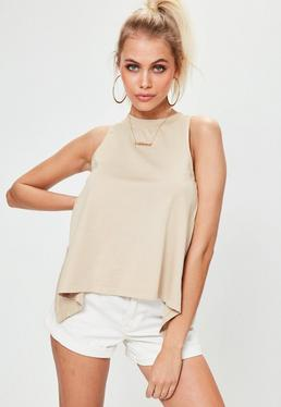 Nude Frill Back Vest Top