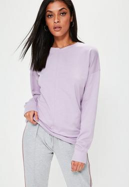Purple Longline Sweatshirt