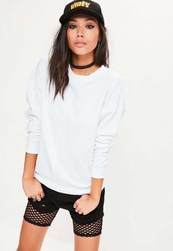 White Longline Sweatshirt