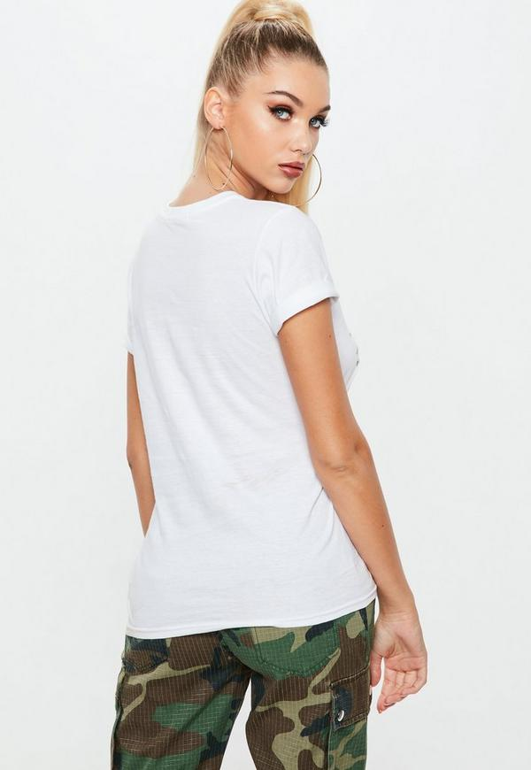 White Corset Detail Graphic T-Shirt | Missguided