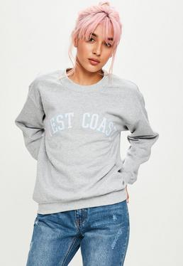 West Coast Sweatshirt in Grau