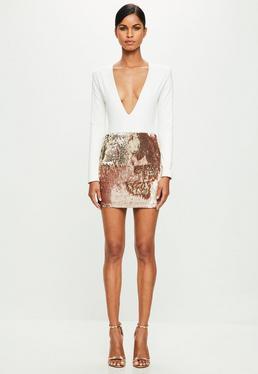 Peace + Love White Long Sleeve Bodysuit