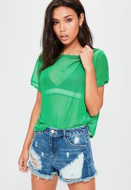 Green Mesh T-Shirt