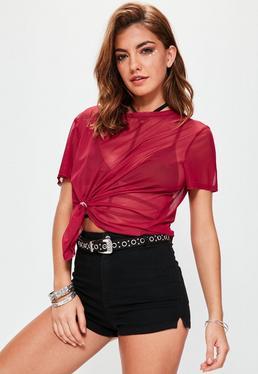 Red Mesh T-Shirt