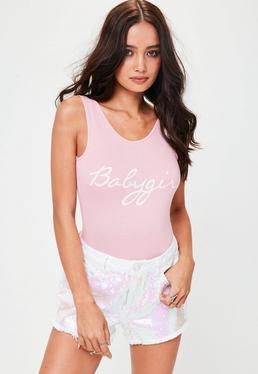 Rosa Babygirl-Slogan Body