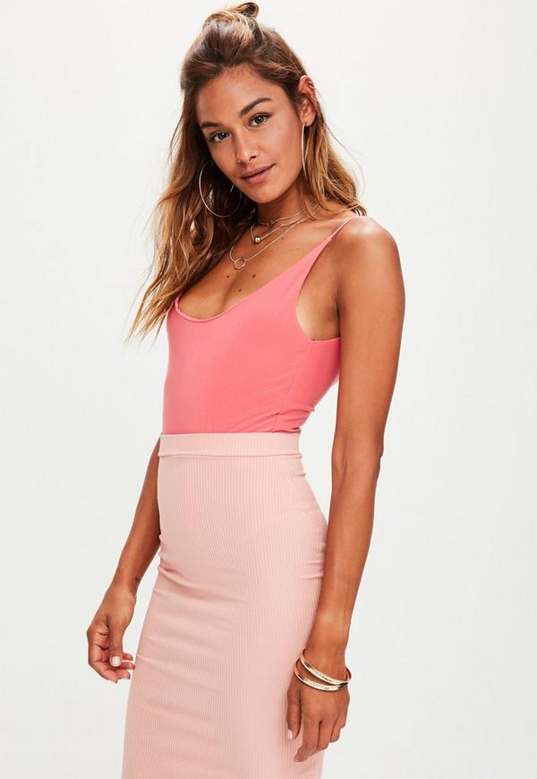 Pink Soft Slinky Bodysuit