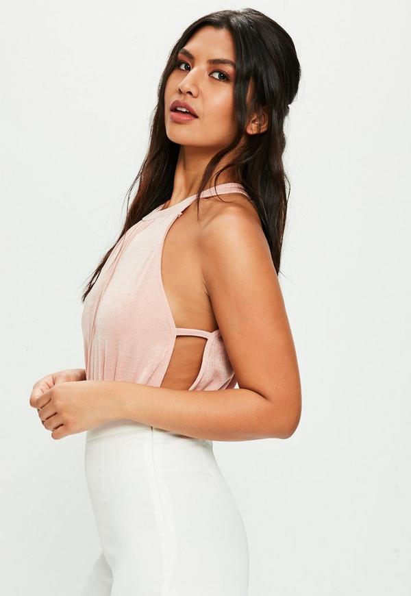 Pink Slinky Bodysuit | Missguided