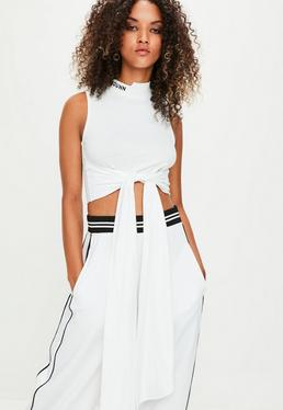 Londunn + Missguided White Crop Top