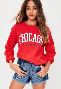 Red Chicago Sweatshirt