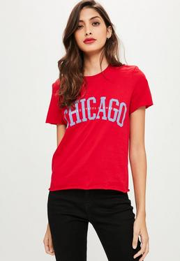 Red Chicago T-Shirt