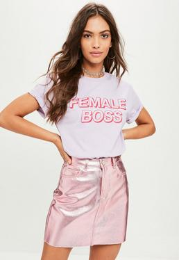 Purple Female Boss T-Shirt