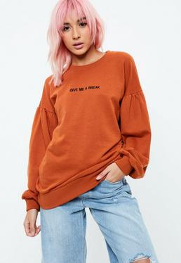 Orange Give Me A Break Sweatshirt