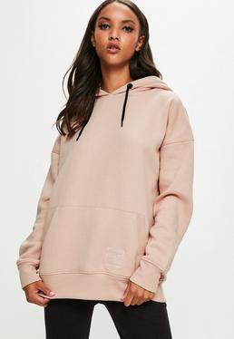 Londunn + Missguided Różowa owersajzowa bluza
