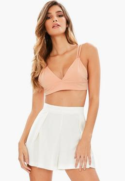 Orange Triangle Cup Jersey Bralet