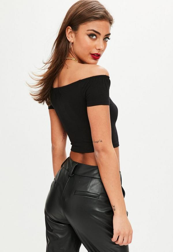 Lulus Exclusive! Get the party started with the Lulus Fayre Washed Black Surplice Crop Top! Soft and lightweight knit fabric falls from short sleeves into a low-cut surplice bodice with a flirty cropped hem.