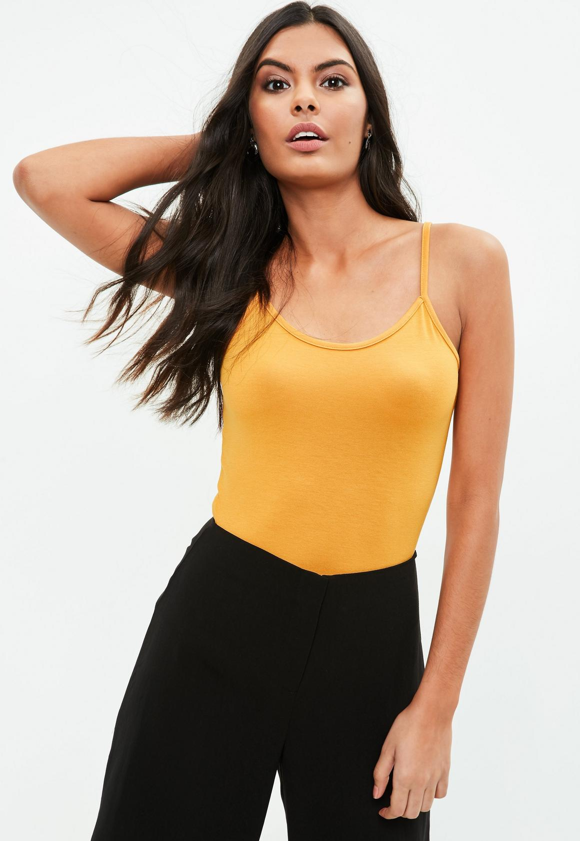 yellow longline cami vest | missguided
